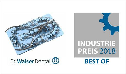 Representatives and journalists awarded the Dr. Walser Dental for their tooth matrices entitled