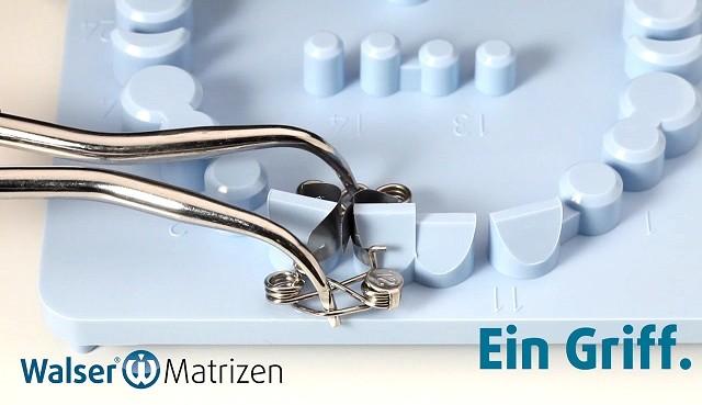 Spannen Sie die Zahn-Matrize XF-Form mit nur einer Handbewegung und sparen Sie viel Zeit und Geld