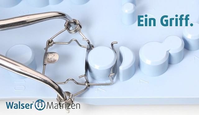 Setzen Sie die einzigartige Zahn-Matrize ein, die disto-zervikal automatisch anliegt
